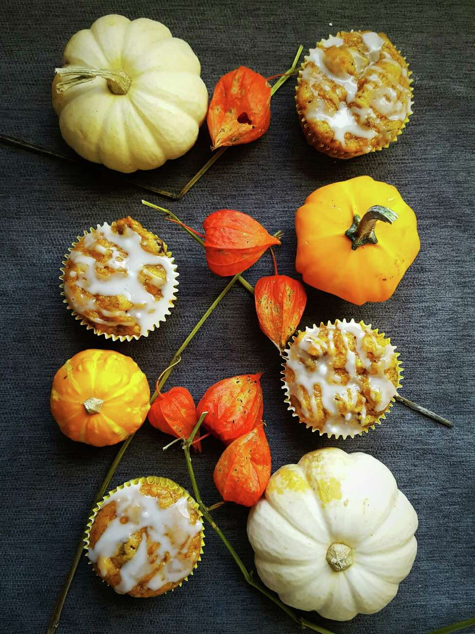 Butternut Squash Sweet Morning Muffins have a maple glaze that will make breakfast a real treat. (Deanna Fox)