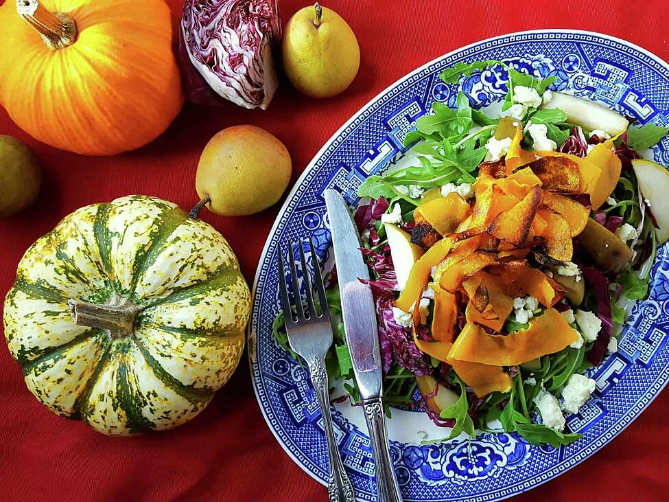 Butternut Squash Ribbon Salad is a great way to use the season's ingredients. (Deanna Fox)