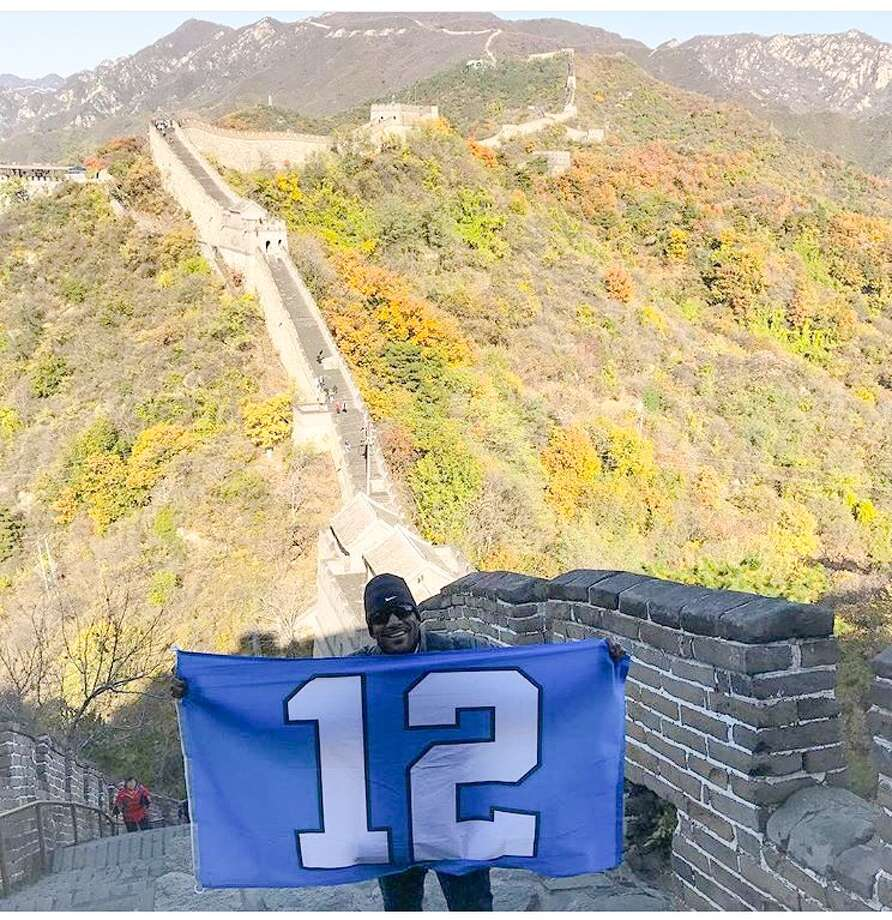 Port Arthur native, and former NFL player Jordan Babineaux, recently traveled to China to promote the NFL. On his trip he got the opportunity to visit the Great Wall of China. Photo: CEO Public Relations