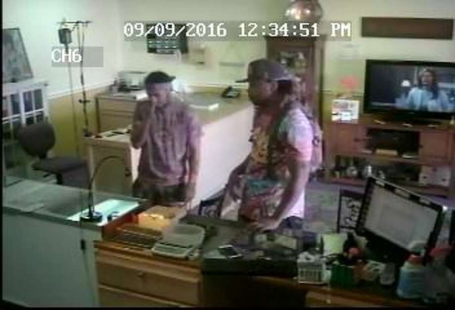 A photograph of the two men suspected of robbing the Gold Rush on Connecticut Avenue in September. Photo: Contributed Photo / Norwalk Hour contributed