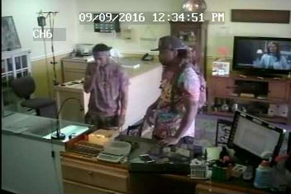 A photograph of the two men suspected of robbing the Gold Rush on Connecticut Avenue in September.