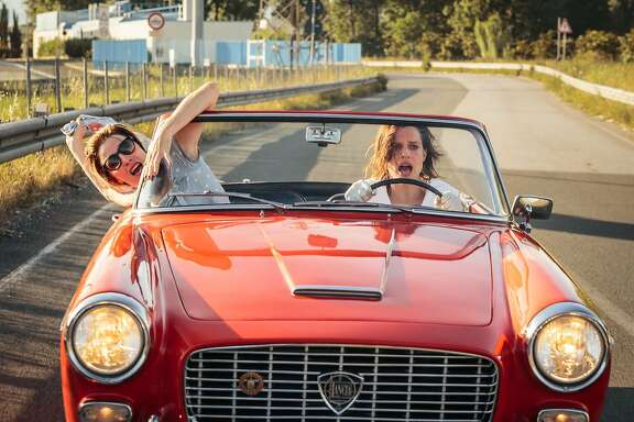 """Beatrice (Valeria Bruni Tedeschi), left, and Donatella (Micaela Ramazzotti) go on an adventure after escaping a mental institution in """"Like Crazy.""""   Credit: Paolo Ciriello / Strand Releasing"""