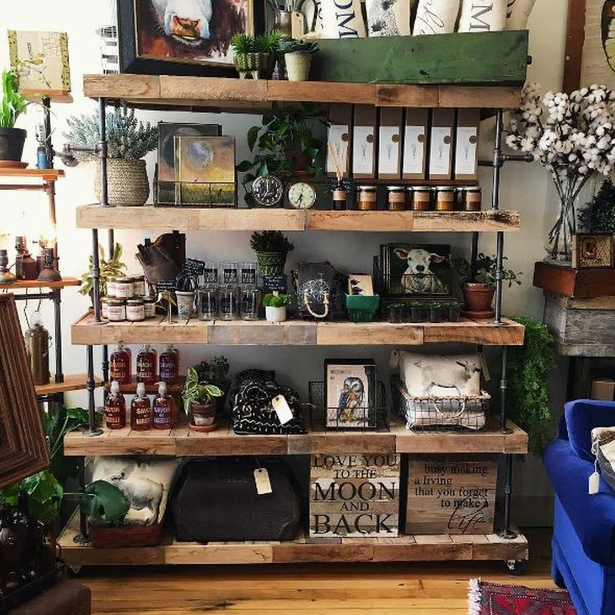 Click through the slideshow for more ideas on where to buy unique gifts in the Capital Region. Bluebird Home Decor in Troy.