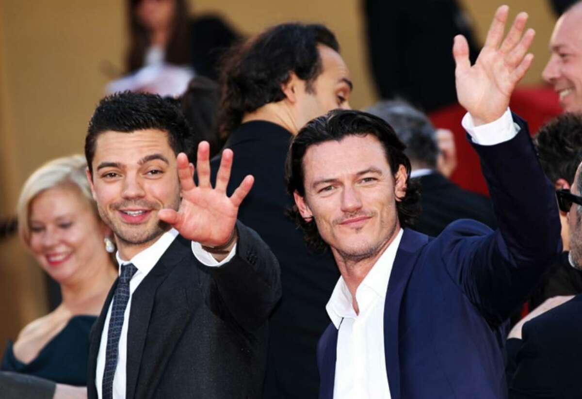 CANNES, FRANCE - MAY 18: Actors Dominic Cooper and Luke Evans attend the