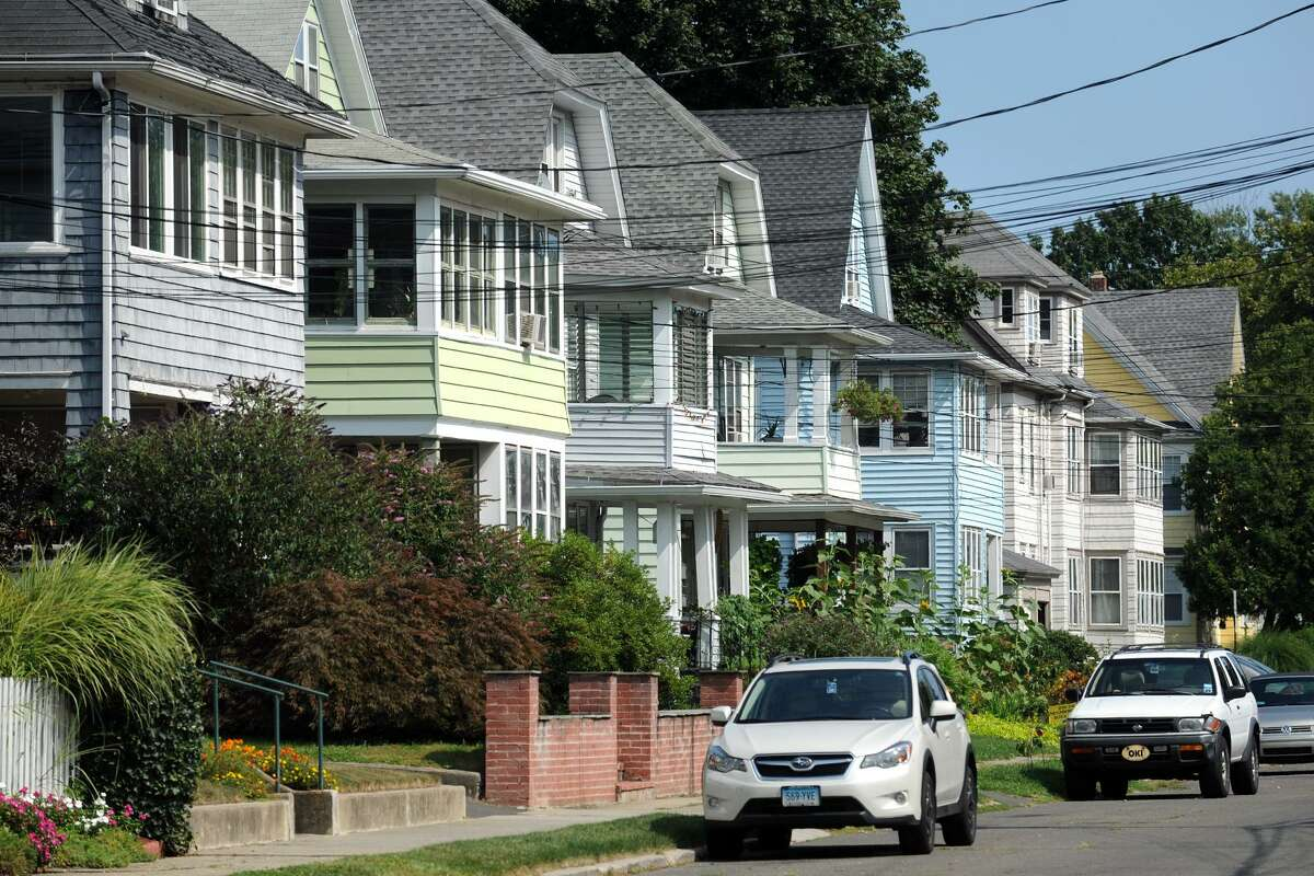 Homes on Harborview Ave. in the Black Rock section of Bridgeport, Conn.