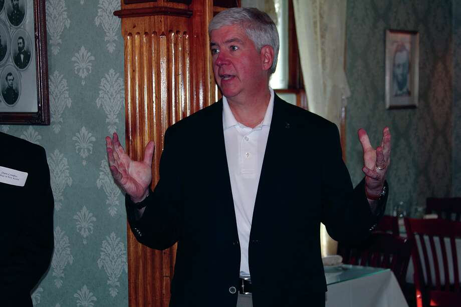 Governor Rick Snyder recently visited the Upper Thumb. Photo: Bradley Massman/Huron Daily Tribune