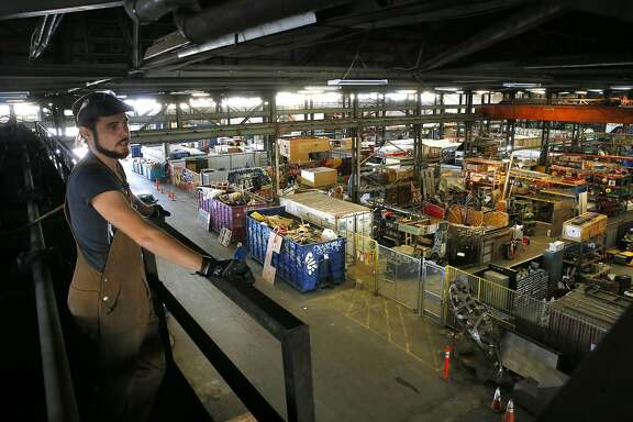 David Wright of Envelope Engineers is a tenant at the American Steel warehouse which has just been acquired by the group 11 West Partners in Oakland, California as seen on Wednesday November 2, 2016.