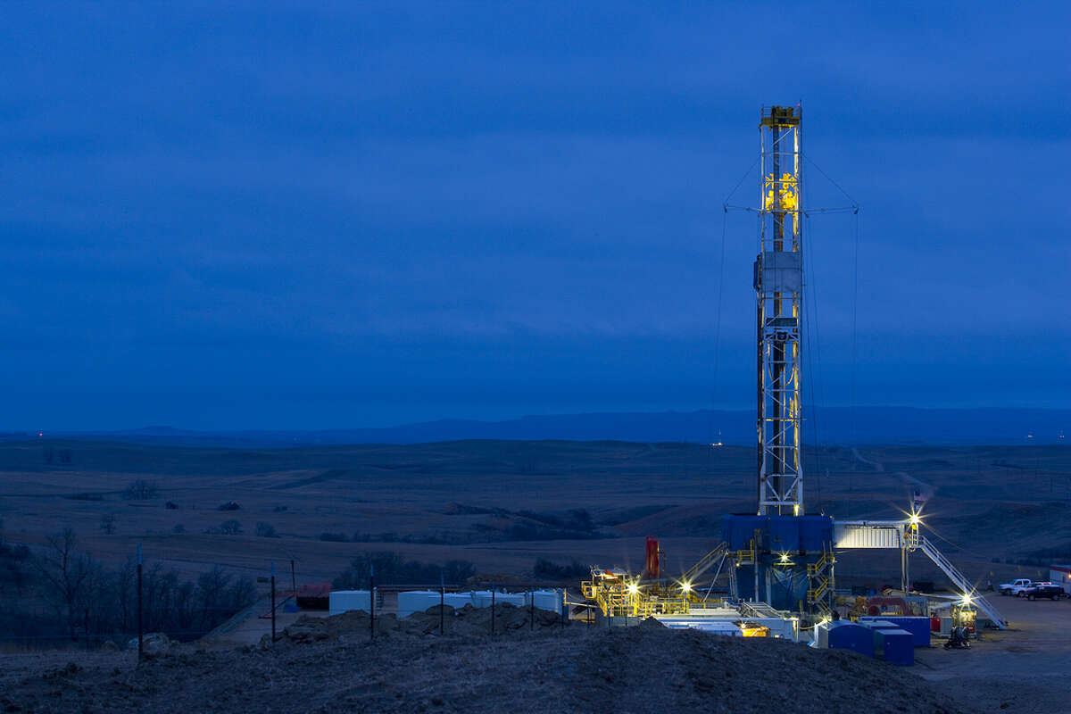 Marathon Oil reported a $97 million profit in the first three months of the year.