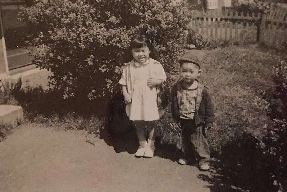 Ed Lee, at age 3, with his sister, Sharon, in the Seattle housing project where he lived as a toddler.