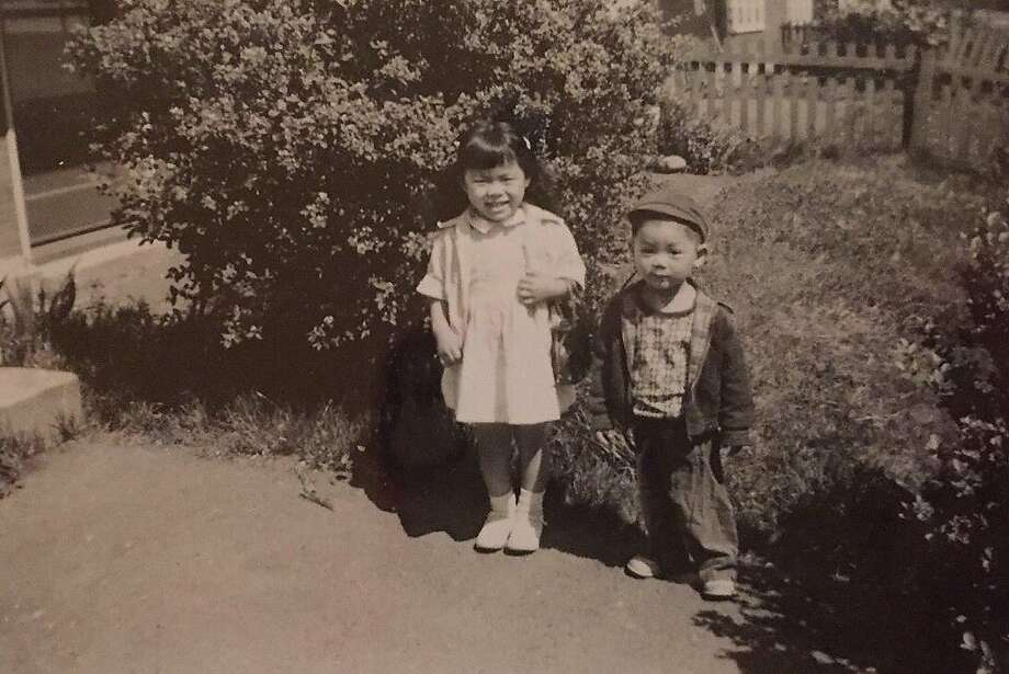 Ed Lee, at age 3, with his sister, Sharon, in the Seattle housing project where he lived as a toddler. Photo: Ed Lee Family, Courtesy Photo