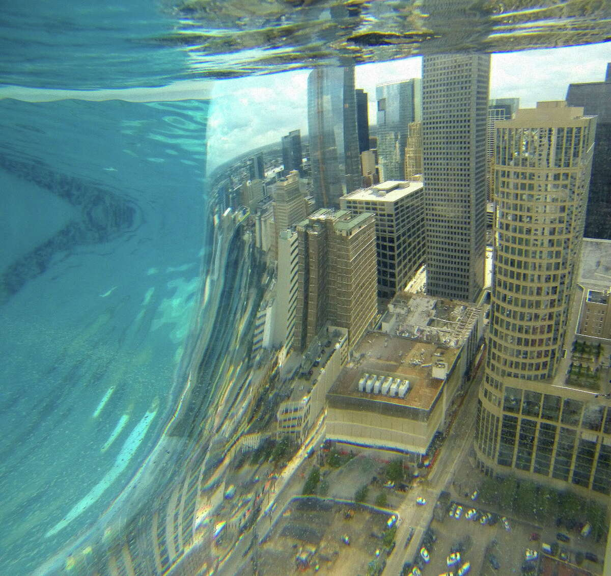 But there's nothing in the world like the skyline view from inside the pool itself.