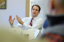 U.S. Rep. Jim Himes, D-Conn., who is seeking a fifth two-year term in the 4th Congressional District, was in Redding, Conn. Wednesday, Oct. 5, 2016. Himes was the featured guest at a weekly Current Events club at the Redding Senior Center.