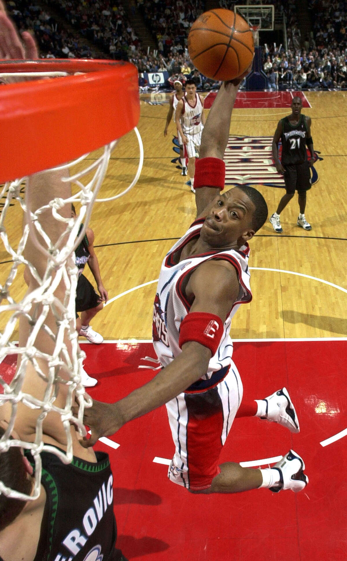 Houston Rockets' Steve Francis is among athletes who participated in sports programs at San Jacinto College. College trustees will vote next week on whether to discontinue some sports, including basketball, in 2018.