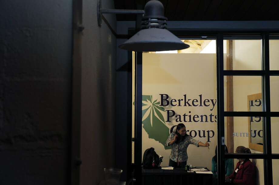 Members of the Berkeley Patients Group wait for guests before a networking event held by Women Grow in Berkeley, Calif., on Thursday, March 5, 2015. As the marijuana market booms and big money rolls in, there is a very vocal desire to make the nascent industry more diverse than, well, than any other industry. Women Grow is one such group seeking to grow the number of women in the weed business. Photo: Carlos Avila Gonzalez, The Chronicle