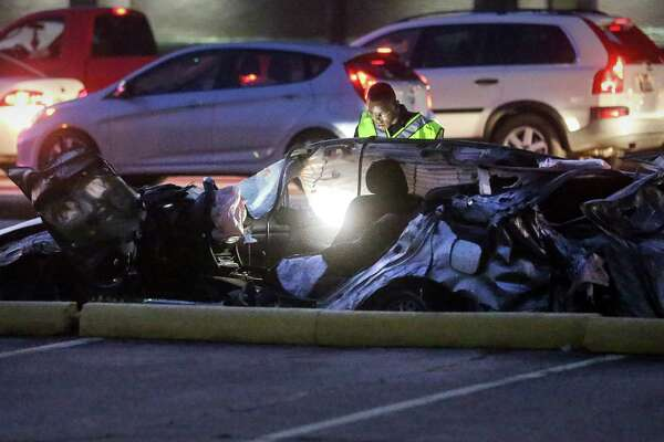 Man killed in grisly FM 1960 crash involving big rig, sedan