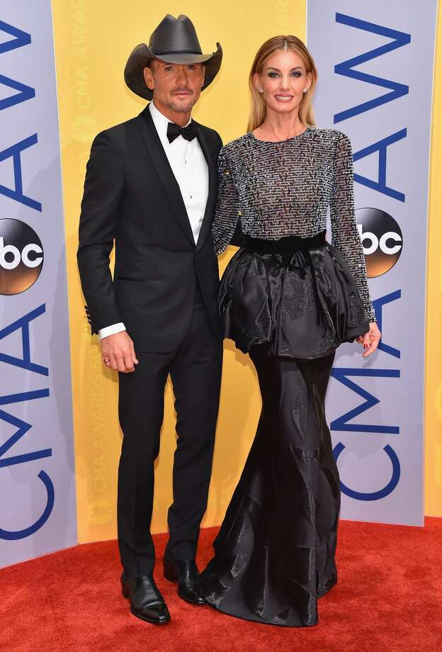 Tim McGraw and Faith Hill attend the 50th annual CMA Awards at the Bridgestone Arena on November 2, 2016 in Nashville, Tennessee. Photo: Michael Loccisano/Getty Images