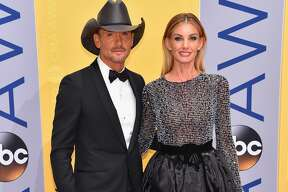 Tim McGraw and Faith Hill attend the 50th annual CMA Awards at the Bridgestone Arena on November 2, 2016 in Nashville, Tennessee.