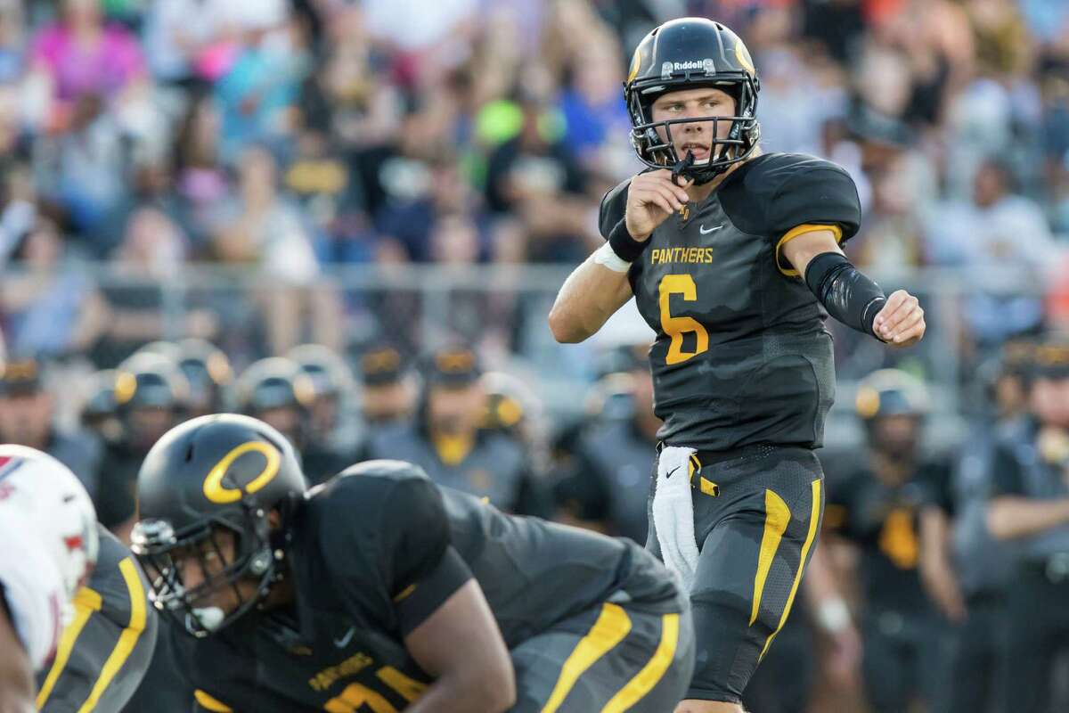 Quarterback C.J. Ward and Klein Oak are in good shape in the District 15-6A tiebreakers going into Friday's game against Klein Forest thanks to an 11-point win over Klein earlier in this district season.