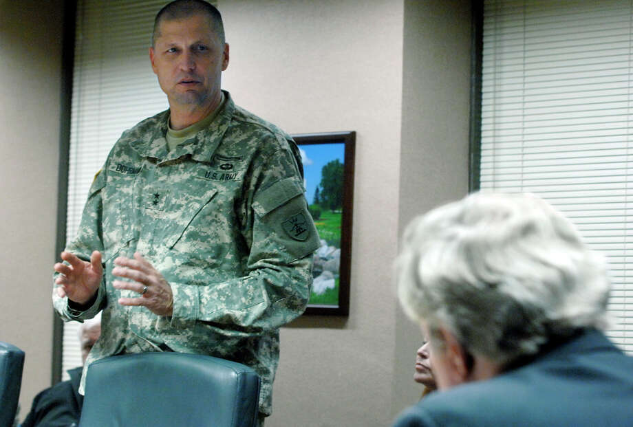 Maj. Gen. Alan Dohrmann, the leader of the state's National Guard, speaks this month at the state Capitol in Bismarck, N.D., while requesting more money for law enforcement costs associated with the Dakota Access pipeline protests.  Photo: Mike McCleary, MBO / The Bismarck Tribune