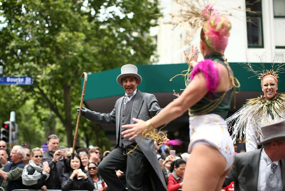 MELBOURNE, AUSTRALIA - OCTOBER 31:  Performers entertain the crowd during the 2016 Melbourne Cup Parade on October 31, 2016 in Melbourne, Australia.  (Photo by Mark Metcalfe/Getty Images) Photo: Mark Metcalfe/Getty Images