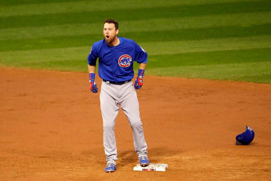 Ben Zobrist, who also won a championship with the Kansas City Royals last year, was named the World Series MVP. Photo: Jamie Squire, Getty Images