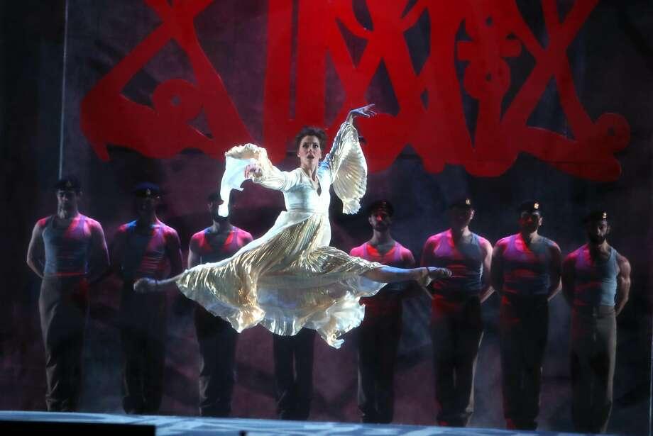 Rachel Little dances during a dress rehearsal for San Francisco Opera's Aida in San Francisco, Calif., on Wednesday, November 2, 2016. Photo: Scott Strazzante, The Chronicle
