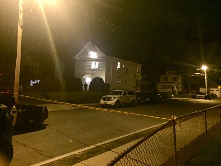Police on Wednesday investigate the deaths of two people found inside a Shannon Street home in Schenectady. An official on Thursday said the case was being investigated as a potential murder and then suicide. (Robert Downen / Times Union)