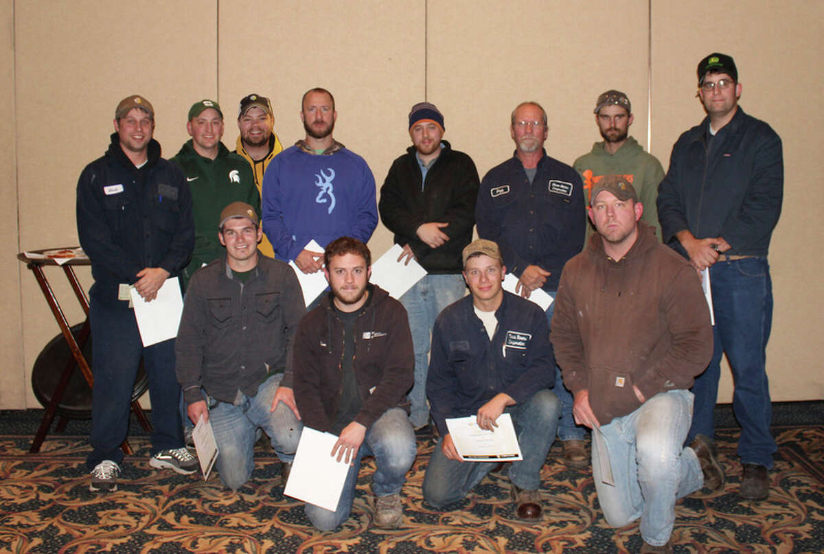 This year's award winners are shown at the Three Rivers semi-annual company meeting.
