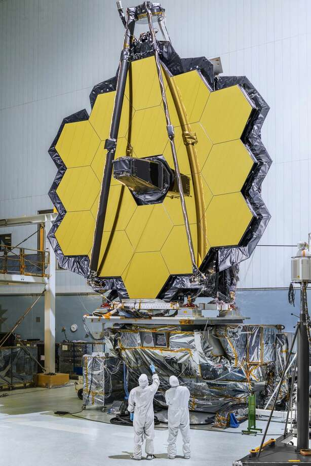 The largest and most powerful telescope to ever be launched into space, NASA's James Webb Telescope, is nearly ready to blast off. Photo: NASA/James Webb Space Telescope