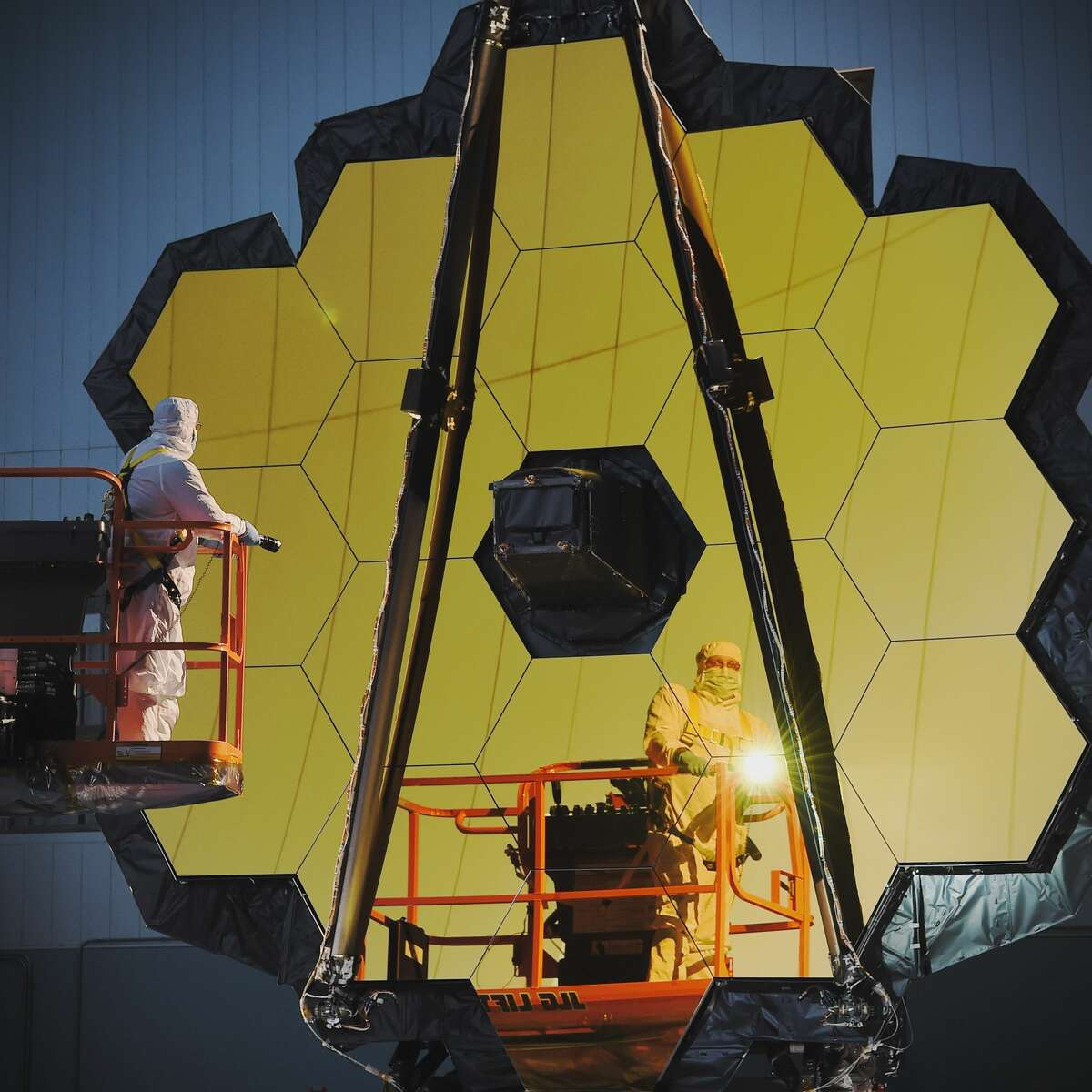 The largest and most powerful telescope to ever be launched into space, NASA's James Webb Telescope, is nearly ready to blast off. Click through to see more amazing images.