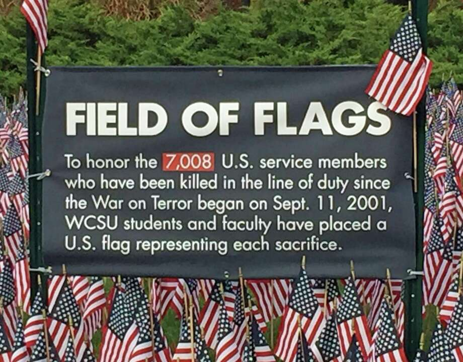 The Field of Flags at Western Connecticut State University Photo: / Rob Ryser