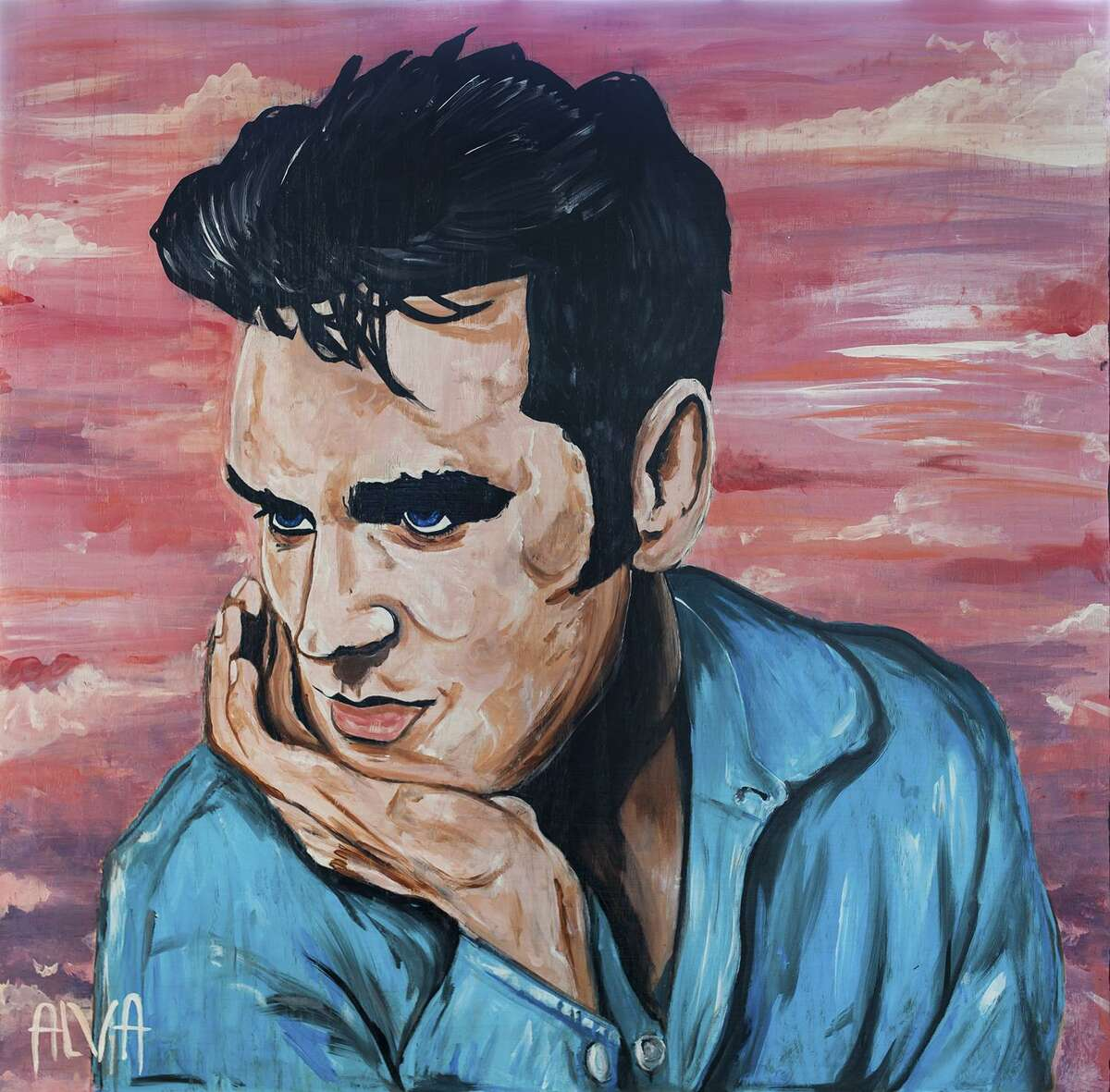 """A portrait of Morrissey by Jenn Alva is one of the works featured in """"November Spawned a Moz Show,"""" a group show at Presa House celebrating an upcoming performance by the British singer. Alva is the bass player for San Antonio band Girl in a Coma, which named for the Smiths' song """"Girl in a Coma"""""""