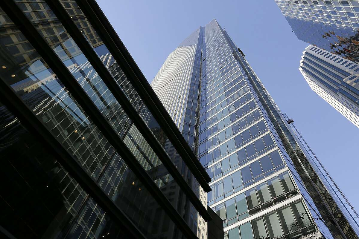 FILE - This Sept. 26, 2016 file photo shows the Millennium Tower in San Francisco. A 58-story luxury condominium that has gained notoriety as the leaning tower of San Francisco is facing two violation notices accusing owners of making unauthorized repairs. The repairs to two ramps and the underground garage were intended to address the problems caused by the building�s sinking, but the city�s building inspection department found they were done without permits.(AP Photo/Eric Risberg)