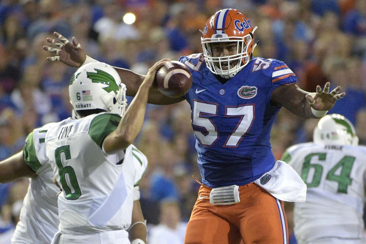 Walter Football's Charlie CampbellDT Caleb Brantley, Florida Campbell also thinks the Seahawks will look to draft an offensive lineman, but with none of the first-round prospects available, here, he settles for Brantley.