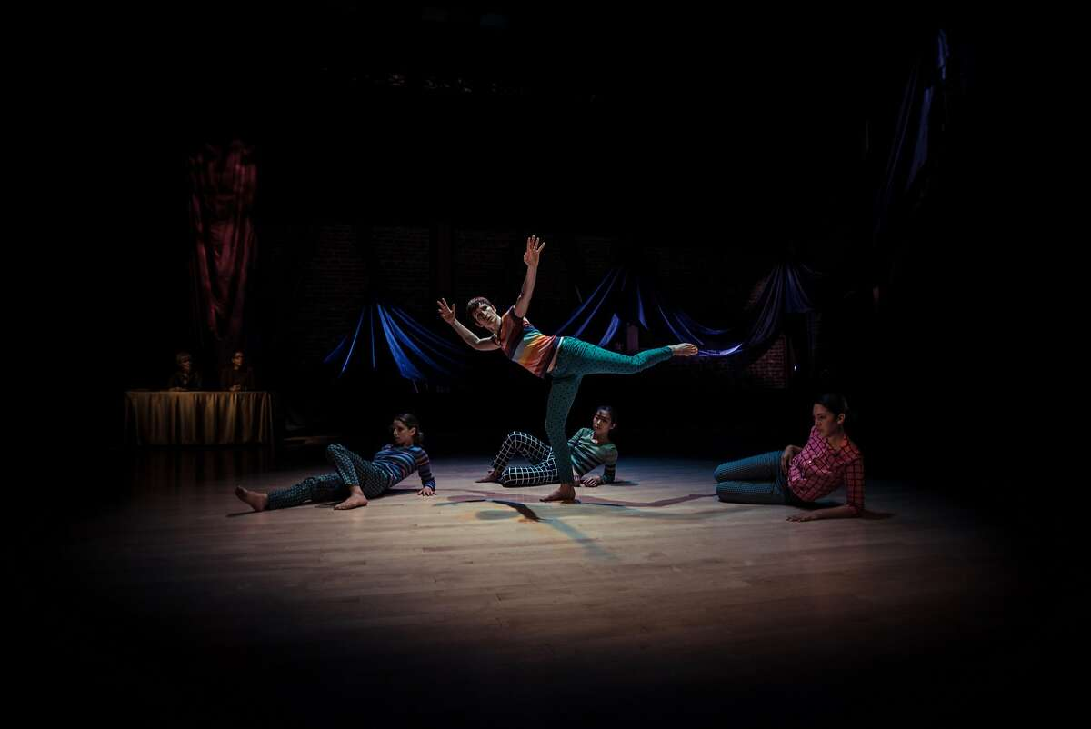 Courtney Moreno with (l-r) Arletta Anderson, Chinchin Hsu and Karla Quintero of Christy Funsch Dance in Funsch's