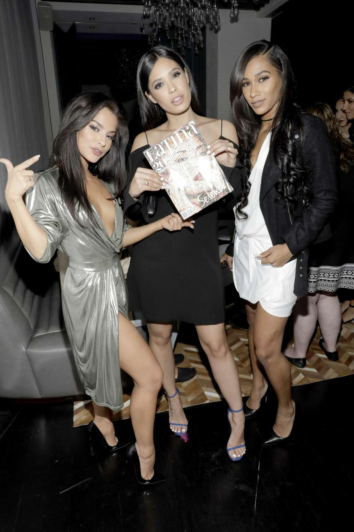 LOS ANGELES, CA - NOVEMBER 02: (L-R) MoMo Gonzalez, Otmara Marrero, and BIA attend Latina's 20th Anniversary celebrating The Hollywood Hot List Honorees at STK on November 2, 2016 in Los Angeles, California. (Photo by Rachel Murray/Getty Images for Latina Magazine)
