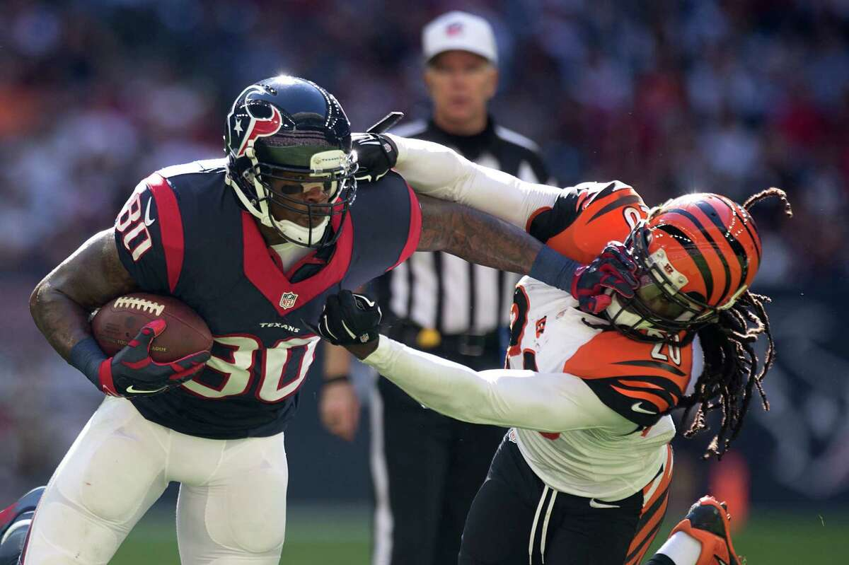 Andre Johnson was known for being a physical wide receiver.