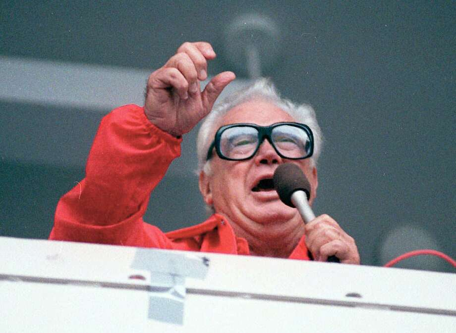 "Harry Caray sings ""Take Me Out To The Ballgame."" Photo: JOHN SWART, Associated Press"