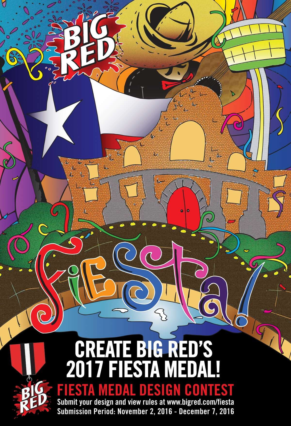 Big Red has launched a contest allowing fans to create the company's 2017 Fiesta medal.