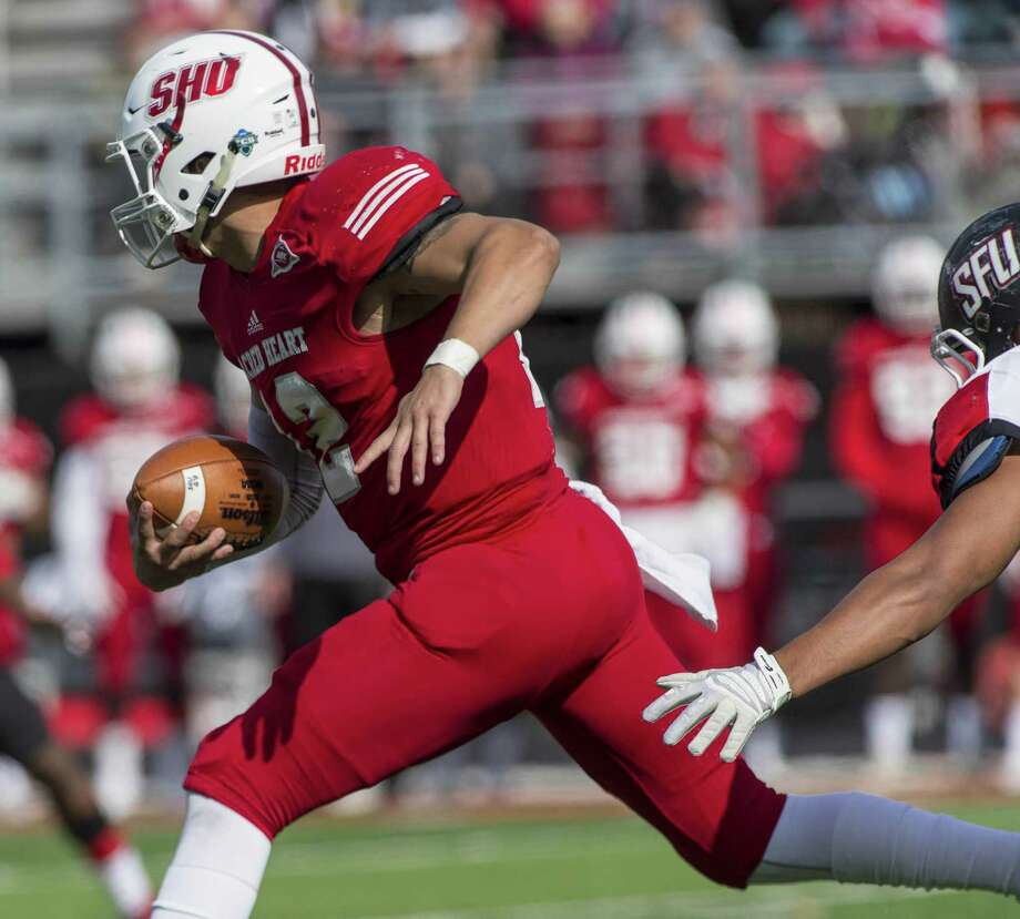 Quarterback RJ Noel and his Sacred Heart teammates look to rebound from last week's loss to Saint Francis when they travel to New Britain on Saturday to play Central Connecticut. Photo: Mark Conrad / For Hearst Connecticut Media / ©Mark F Conrad