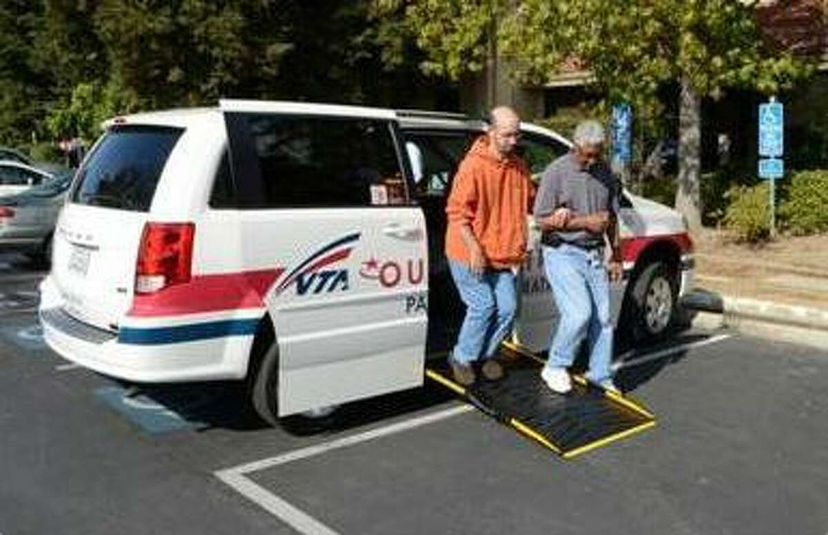 A photo from the Santa Clara Valley Transportation Authority shows a paratransit vehicle operated by Outreach and Escort Inc. The FBI raided the offices of Outreach and Escort on Thursday.