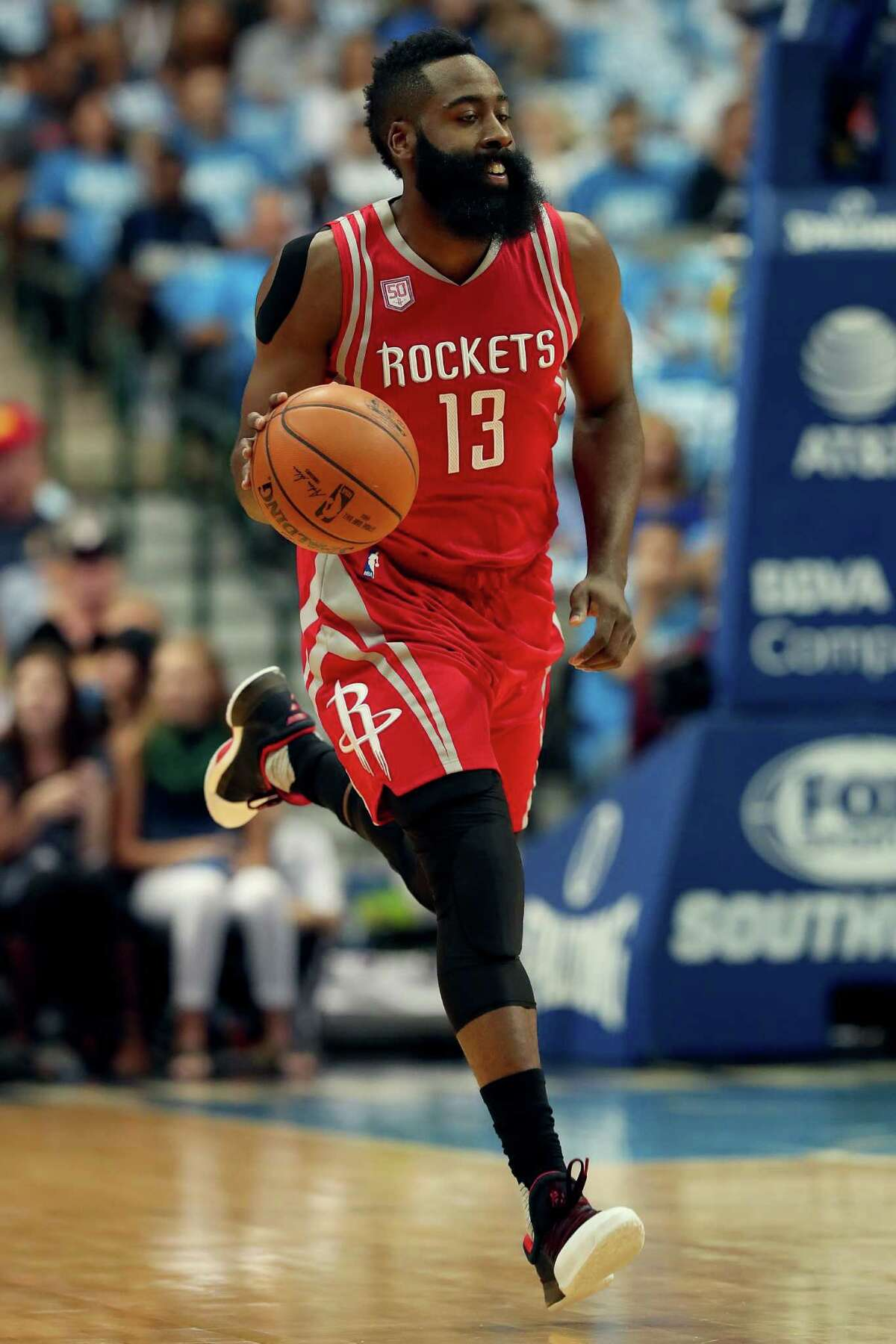 A Rockets teammate of guard James Harden say his passes and anticipation on the court make it seem as if he has eyes