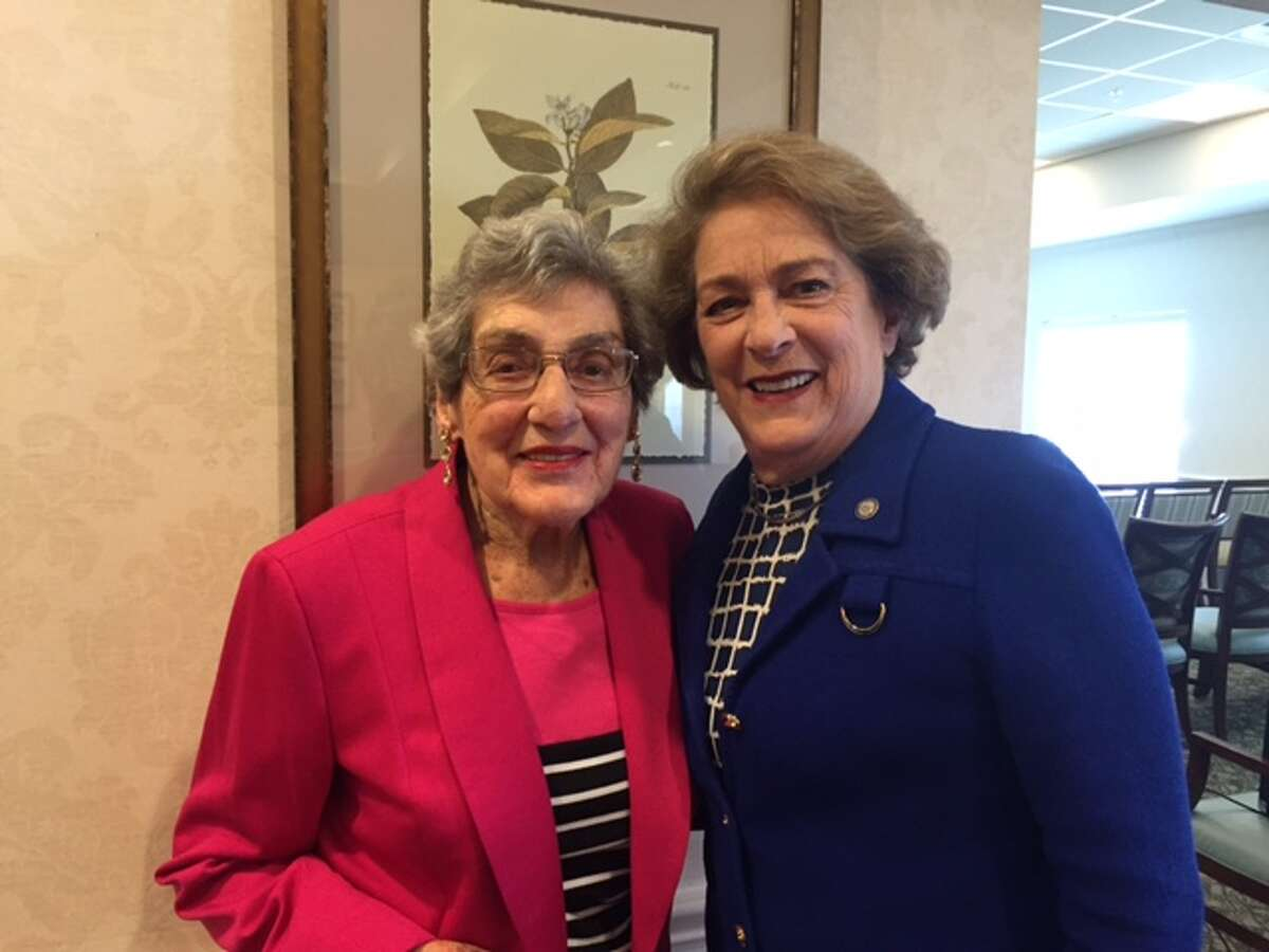 Houston Mayor Pro Tem Ellen Cohen cast her ballot for Democrat Hillary Clinton on Wednesday, Nov. 2, with her 101-year-old mother, Elaine Rippner.