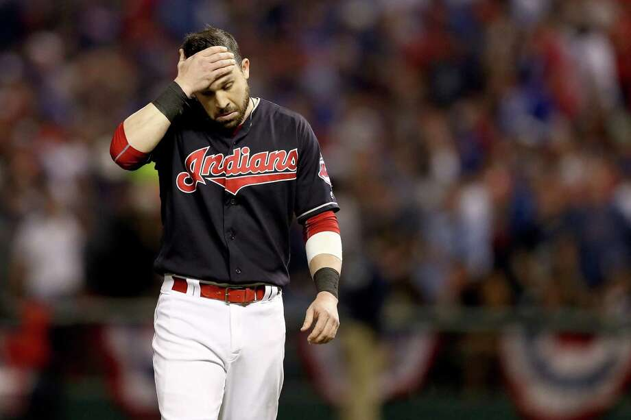 CLEVELAND, OH - NOVEMBER 02:  Jason Kipnis #22 of the Cleveland Indians reacts against the Chicago Cubs in Game Seven of the 2016 World Series at Progressive Field on November 2, 2016 in Cleveland, Ohio.  (Photo by Elsa/Getty Images) ORG XMIT: 678125603 Photo: Elsa / 2016 Getty Images