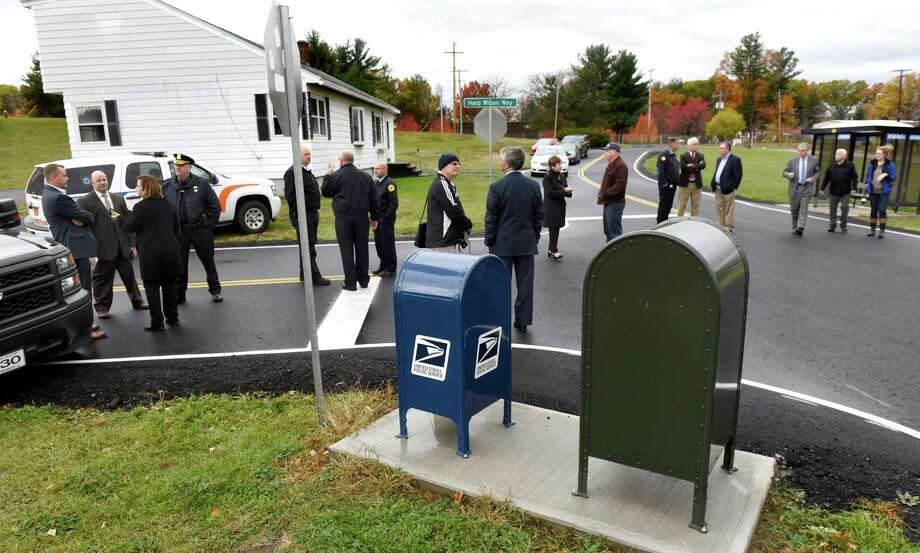 Colonie officials unveil a new streetscape to be used in training police and other responders on Thursday, Nov 3, 2016, at Colonie Municipal Training Center in Latham, N.Y. The streetscape includes a 480-foot section of divided highway with intersections, driveways, utility poles, and a bus stop. (Cindy Schultz / Times Union) Photo: Cindy Schultz / Albany Times Union
