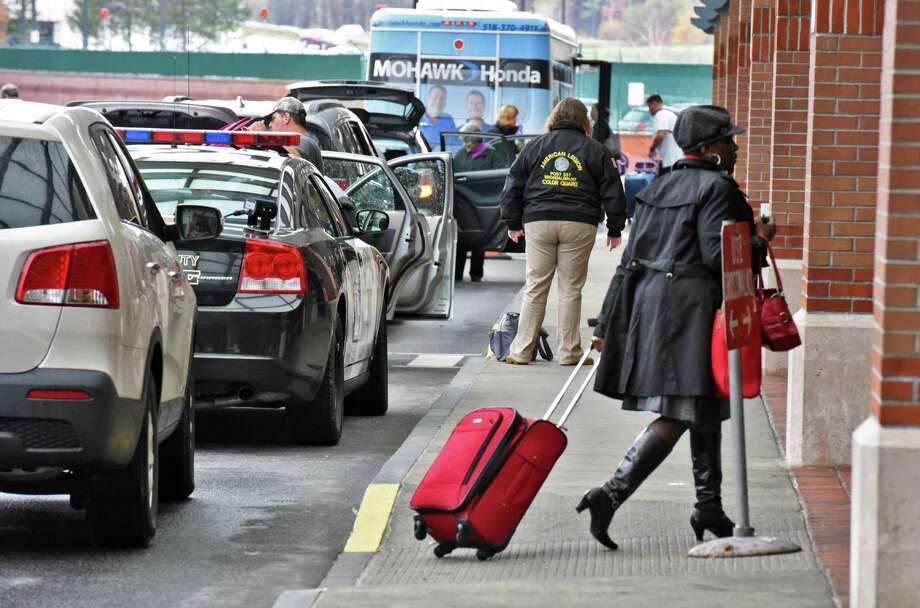 Travelers arrive at Albany International Airport Thursday Nov. 3, 2016 in Colonie, NY.  (John Carl D'Annibale / Times Union) Photo: John Carl D'Annibale / 20038680A