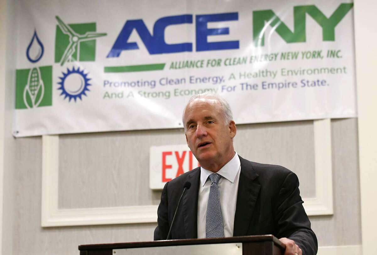Gov. Andrew Cuomo energy aide Richard Kauffman speaks during The Alliance for Clean Energy New York's annual meeting on Thursday Nov. 3, 2016 in Albany, N.Y. (Lori Van Buren / Times Union)