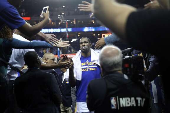 Golden State Warriors' Kevin Durant leaves the court after 122-96 win over Oklahoma City Thunder in NBA game at Oracle Arena in Oakland, Calif., on Thursday, November 3, 2016.
