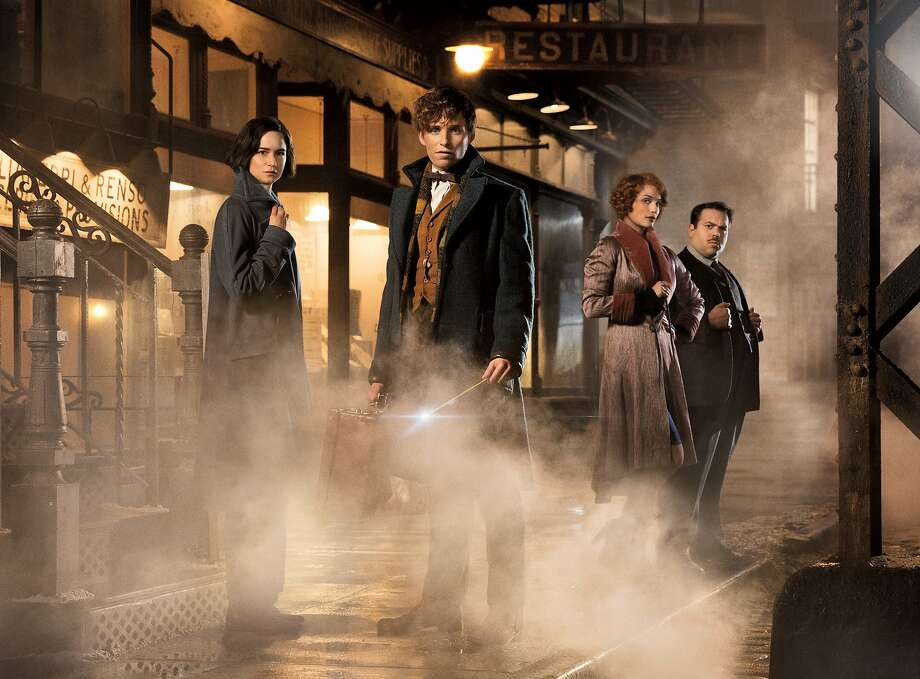 "Katherine Waterston (left), Eddie Redmayne, Alison Sudol and Dan Folger in ""Fantastic Beasts and Where to Find Them."" Photo: Jaap Buitendijk, Associated Press"