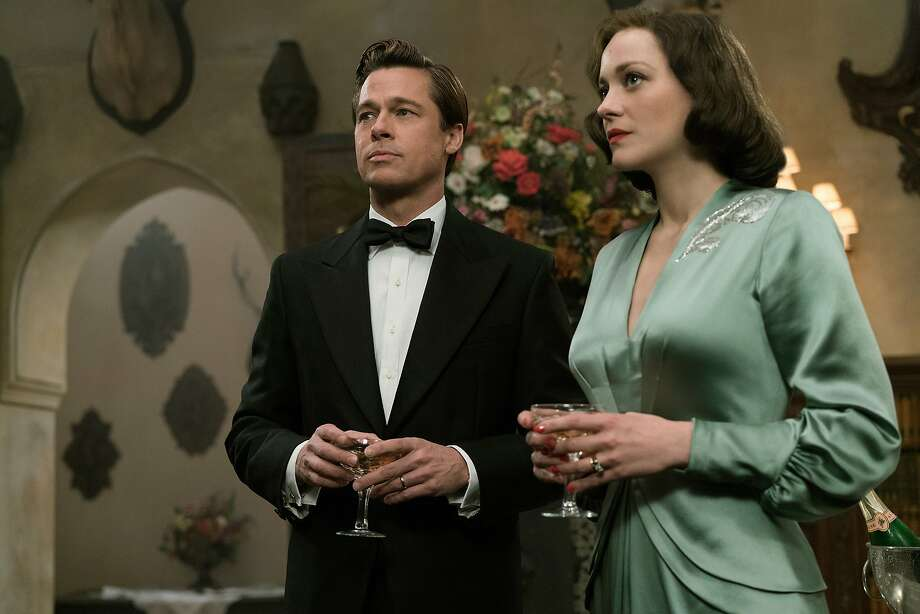 "This image released by Paramount Pictures shows Marion Cotillard, right, and Brad Pitt in a scene from, ""Allied,"" in theaters on November 23. (Daniel Smith/Paramount Pictures via AP) Photo: Daniel Smith, Associated Press"